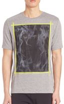 Madison Supply Abstract Printed Tee