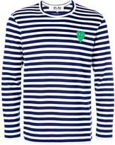 Comme des Garcons mini heart striped jumper