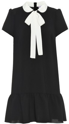 RED Valentino Bow-embellished stretch-crepe dress