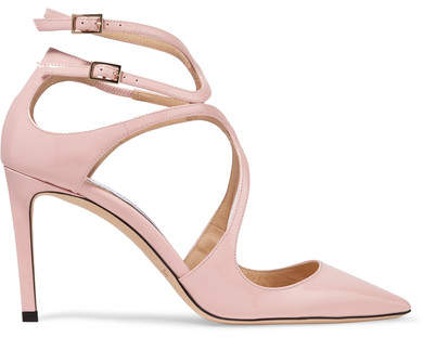 Jimmy Choo Lancer 85 Patent-leather Pumps - Baby pink