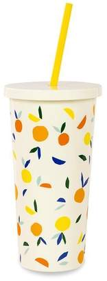 Kate Spade TUMBLER WITH STRAW - CITRUS TWIST, 20 OZ