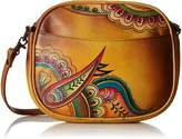 Anuschka Anna By Anna by AnuschkaWomen's Genuine Leather Multi-Compartment Convertible Bag | Hand-Painted Original Artwork | Royal Paisley