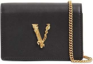Versace VIRTUS MINI LEATHER SHOULDER BAG