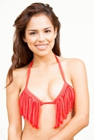 Stone Fox Swim Harlow Top in Fire Coral