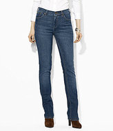 Lauren Ralph Lauren Super Stretch Slimming Classic Straight Jeans