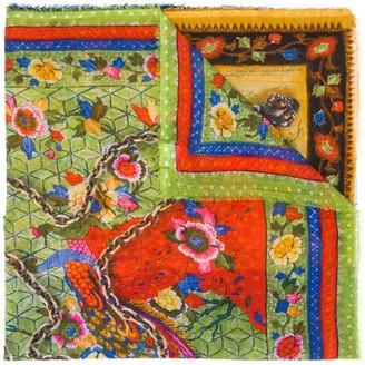 Faliero Sarti Multi-Print Embroidered Scarf