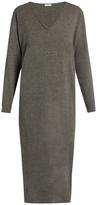 Tomas Maier V-neck cashmere-knit dress
