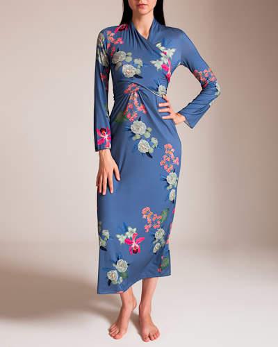 Grazia'Lliani Grazialliani Jersey Basico Wrap Gown
