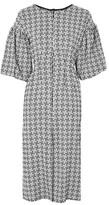 Topshop Puff Sleeve Midi Dress