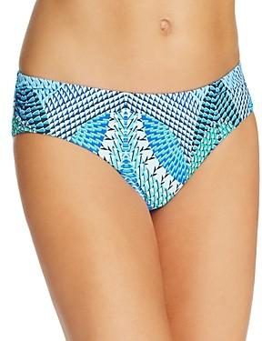 Echo Havana Geo Print Ruched Bikini Bottom