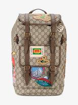 Gucci Gg Supreme Applique Backpack