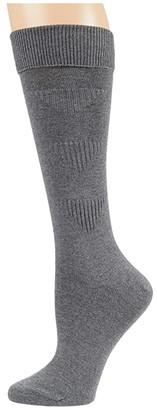 Falke Heritage Thrift Boot Sock (Light Grey Melange) Women's Crew Cut Socks Shoes