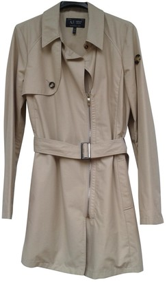 Armani Jeans Beige Cotton Trench Coat for Women