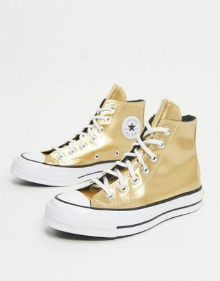 Converse Chuck '70 hi metallic gold trainers