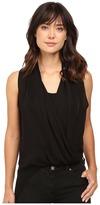 Heather Silk Side Zip Drape Top