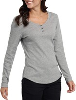Dickies Women's Long-Sleeve 3-Button Henley Shirt