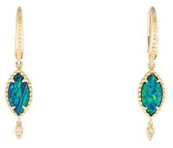 Rina Limor Fine Jewelry 14K Opal & Diamond Drop Earrings