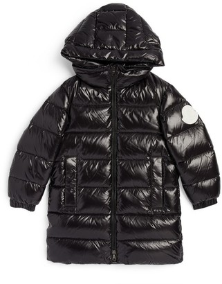 Moncler Enfant Long Berry Parka (4-6 Years)