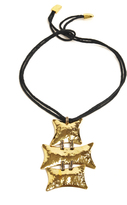 Josie Natori Brass Buffed Necklace