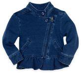 Splendid Size 6-9M Denim Jacket with Ruffle in Indigo