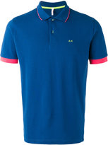 Sun 68 contrast polo shirt - men - Cotton/Spandex/Elastane - L