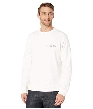 Lacoste Long Sleeve Non Brushed Fleece Rainbow Logo Sweatshirt