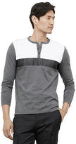 Kenneth Cole Color Block Mesh Henley