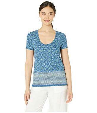 Lucky Brand Women's Floral Border Print TEE