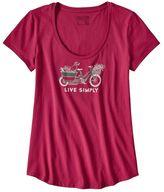 Patagonia Women's Live Simply® Market Bike Cotton Scoop T-Shirt