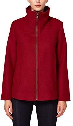 Esprit Women's 088ee1g034 Coat, (Garnet Red 620), Small