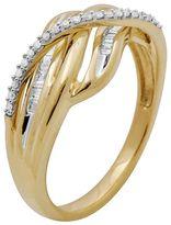10k Gold 1/5-Ct. T.w. Diamond Swirl Ring