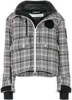 Off-White padded check coat