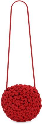 Alienina Round Rope Cotton Crossbody Bag