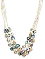 lonna & lilly Shell and Abalone Goldplated Necklace
