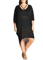 City Chic Strap Detail Dress Cover-Up