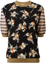 Marni contrast pattern top - women - Silk/Cotton/Nylon - 36