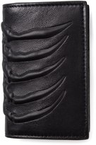 Alexander McQueen rib cage cardholder - men - Leather - One Size