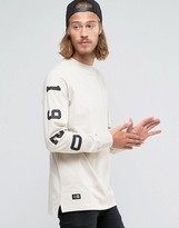 New Era Crafted Long Sleeve T-shirt With Sleeve Print