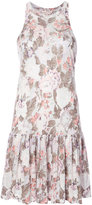 Rebecca Taylor floral print pleated dress - women - Linen/Flax - XS