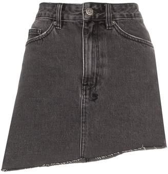 Ksubi Asymmetric Hem Mini Skirt