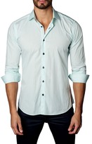 Jared Lang Cotton Button-Down Gingham Sportshirt