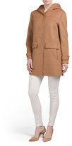 Hooded Double Face Wool Coat