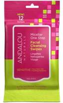 Andalou Naturals Sensitive Micellar 12 Facial Swipes