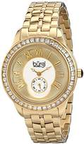 Burgi Women's BUR106YG Crystal Accented Yellow Gold Swiss Quartz Watch with Yellow Gold Dial and Yellow Gold Bracelet