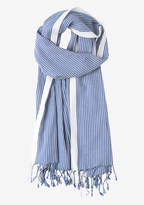 Toast Warp Stripe Cotton Scarf