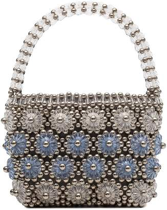 Shrimps Shelly beaded floral bag