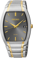 Seiko Mens Two-Tone Stainless Steel Solar Watch SNE334