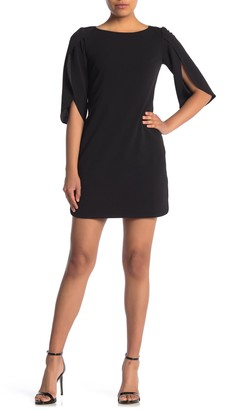 Vince Camuto Tulip Sleeve Sheath Dress (Petite)