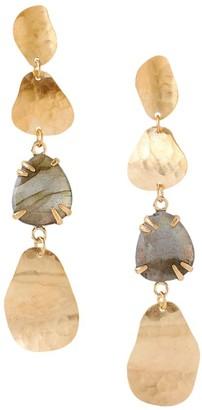 Chan Luu Copper Sheen Labradorite Drop Earrings
