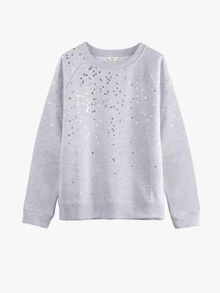 Hush Confetti Print Sweatshirt, Grey